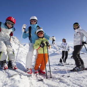 esqui en familia